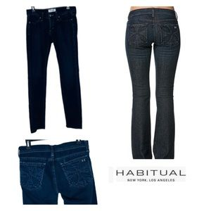 Habitual Dark Wash Cross Straight Jeans.  Size 26